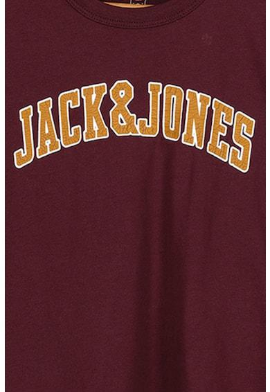 Jack&Jones Tricou cu decolteu la baza gatului si imprimeu logo b Baieti