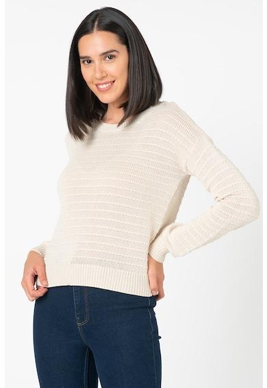 Vero Moda Pulover tricotat din bumbac organic cu model in dungi Citro Femei