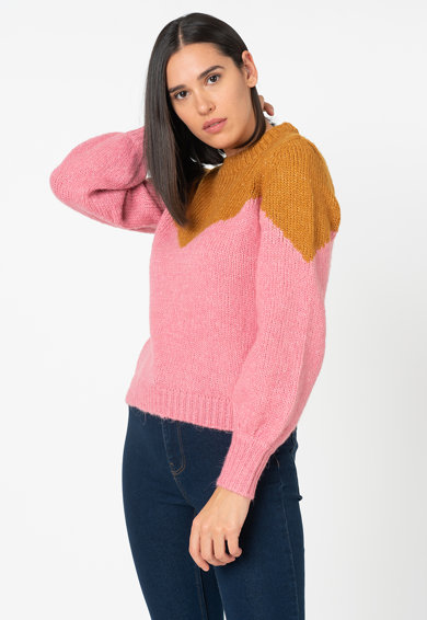 Vero Moda Winnie colorblock dizájnos pulóver női