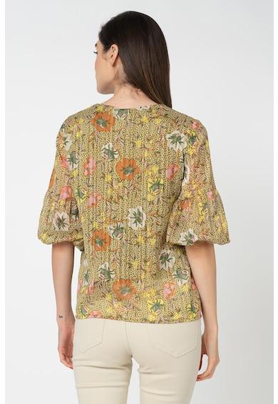 Vero Moda Bluza cu decolteu in V si model floral Cille Femei