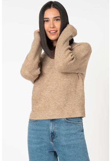 Only Aurola V-nyakú pulóver csipkeszegéllyel női
