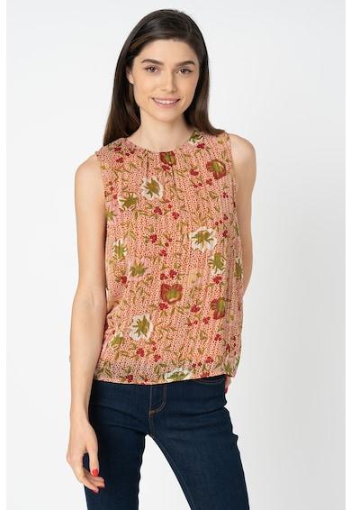Vero Moda Bluza cu pliuri si model floral Cille Femei