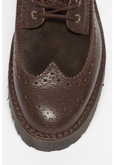Selected Homme Ricky bőr és nyersbőr brogue cipő férfi
