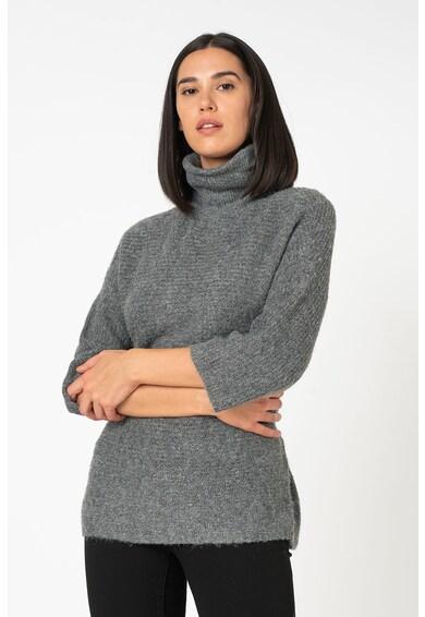 Only Marli bő fazonú pulóver garbónyakkal és háromnegyedes ujjakkal női