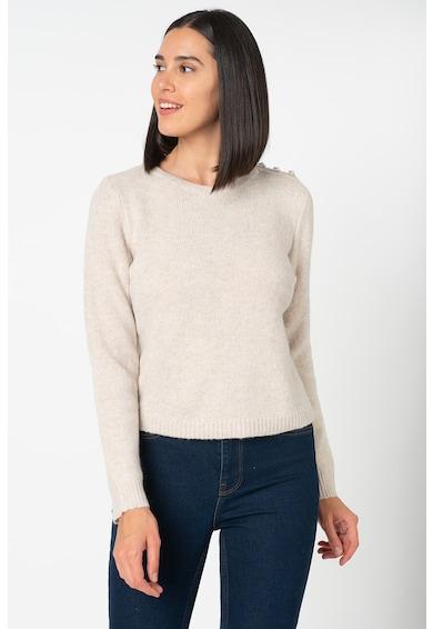 Only Bling gyapjútartalmú pulóver díszgombokkal a vállrészen női