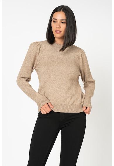 Only Lesly finomkötött pulóver puffos ujjakkal női