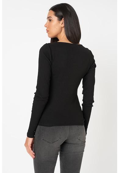 Vero Moda Bluza din amestec de bumbac organic, cu aspect striat New Ava Femei
