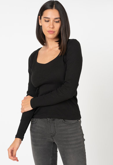 Vero Moda New Ava organikuspamut-tartalmú felső bordázott hatással női