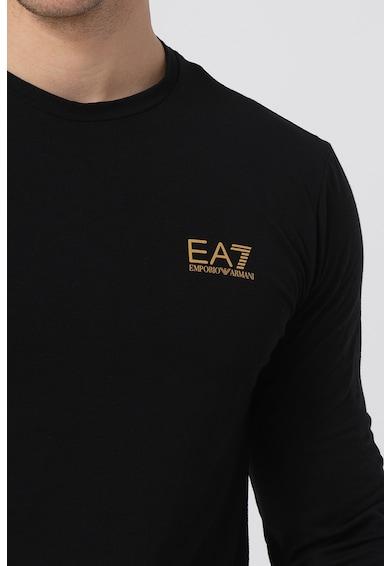EA7 Bluza cu decolteu la baza gatului si detaliu logo pe piept Barbati