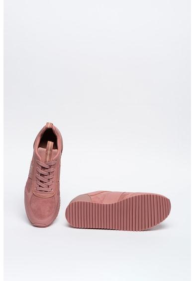 EA7 Pantofi sport cu detalii de piele intoarsa Femei