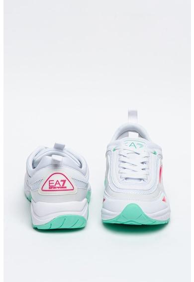 EA7 Pantofi sport de plasa cu insertii de piele ecologica Femei