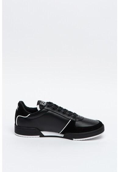 EA7 Pantofi sport cu insertii de piele intoarsa Barbati