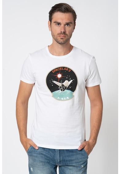 BLEND Tricou cu decolteu la baza gatului cu imprimeu grafic Barbati