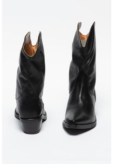 Trussardi Jeans Cizme cowboy de piele ecologica Texano Femei