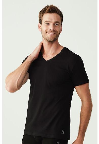 U.S. Polo Assn. Set de tricouri de casa cu decolteu in V - 2 piese Barbati
