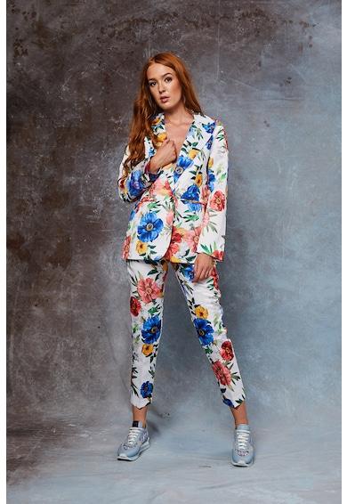 MIAU by Clara Rotescu Pantaloni cu imprimeu floral Rubi Femei