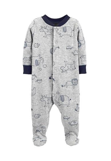 Carter's Salopeta de pijama cu botosei si model cu animale Baieti