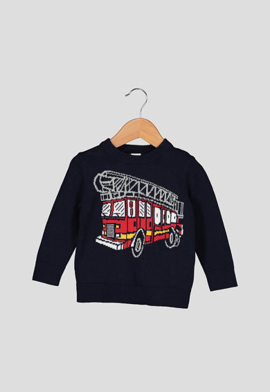 GAP Pulover tricotat cu decolteu la baza gatului Baieti