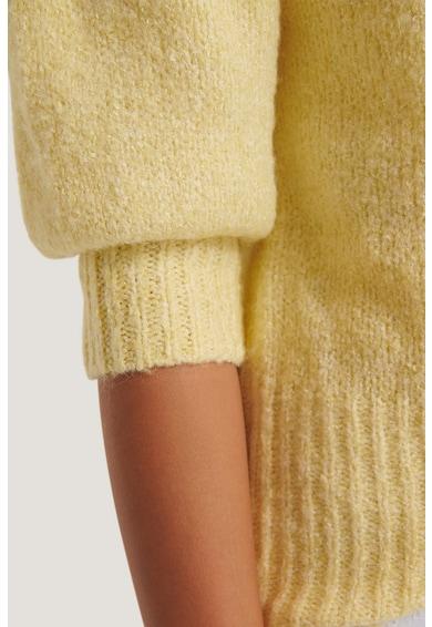 NA-KD Pulover tricotat cu maneci medii bufante Femei
