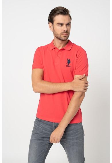 U.S. Polo Assn. Tricou polo slim fit din material pique Barbati