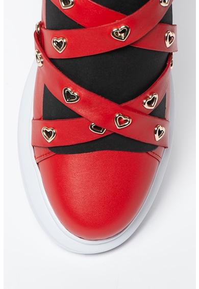 Love Moschino Pantofi sport cu barete cu model incrucisat Femei