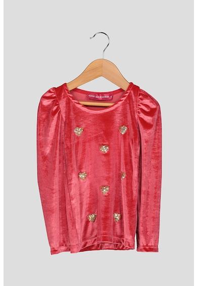 Agatha Ruiz de la Prada Bluza de catifea cu maneci bufante Fete