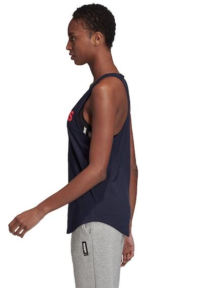 adidas Performance Top cu spate decupat si imprimeu logo Essentials Femei