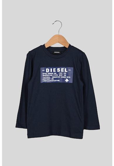 Diesel Bluza cu imprimeu logo si decolteu la baza gatului Fete