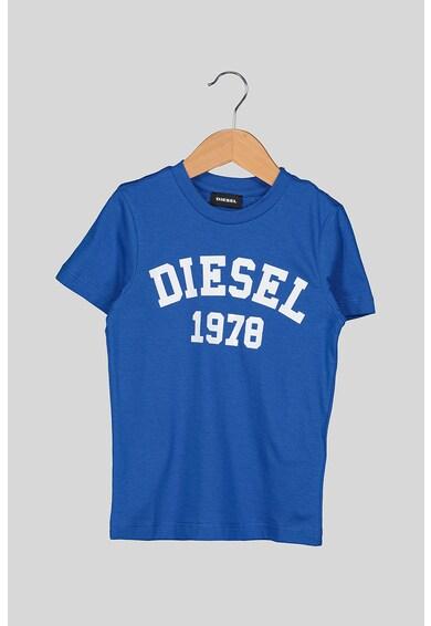 Diesel Tricou cu decolteu rotund si imprimeu logo Fete