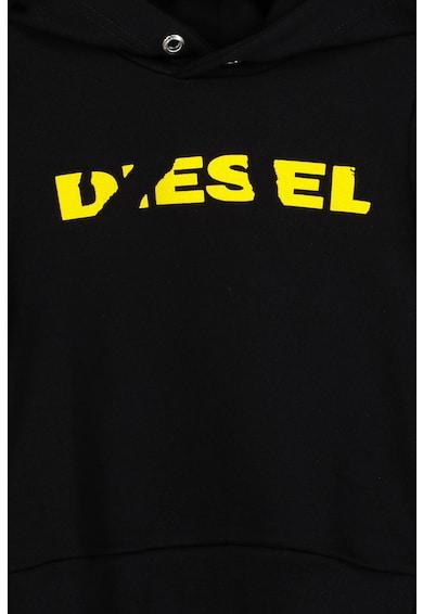 Diesel Hanorac de bumbac cu imprimeu logo Fete