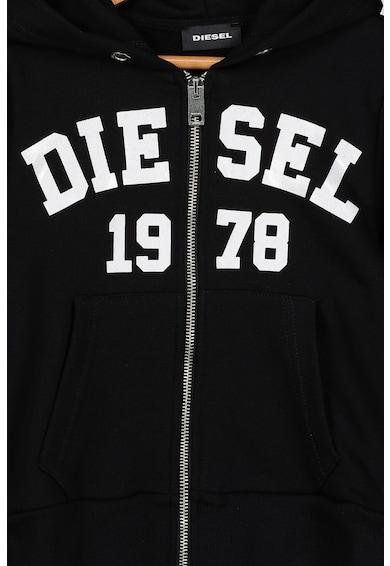 Diesel Hanorac cu fermoar si imprimeu logo Fete