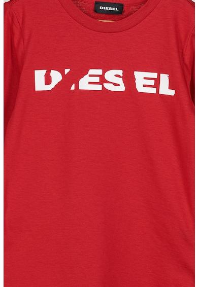 Diesel Bluza de bumbac cu logo Fete