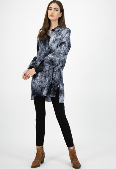 Missguided Camasa lunga cu model tie-dye Femei