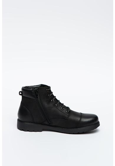 Geox Rhadalf bőrcipő műbőr részletekkel férfi