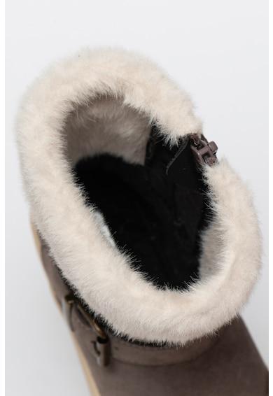 Geox Cizme medii impermeabile din piele intoarsa cu garnitura din blana sintetica Rebecca Fete