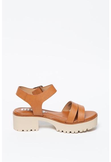 MTNG Sandale de piele ecologica cu toc masiv Femei