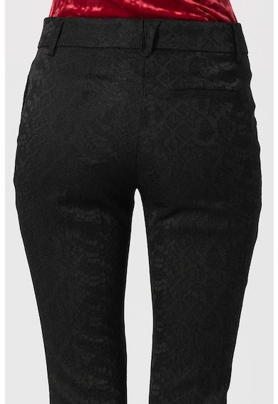 Versace Jeans Pantaloni crop cu textura cu aspect de piele de sarpe Femei
