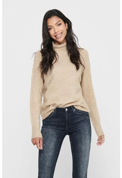 JdY Pulover tricotat fin cu guler inalt Elanora Femei