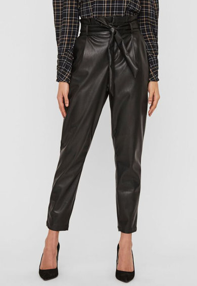 Vero Moda Pantaloni de piele ecologica cu talie inalta Femei