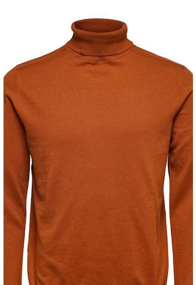 Selected Homme Pulover cu guler inalt si aspect tricotat fin Barbati