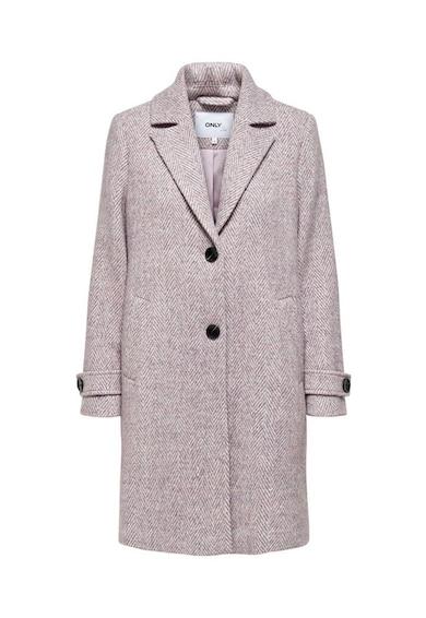 Only Palton din amestec de lana cu revere decupate Femei