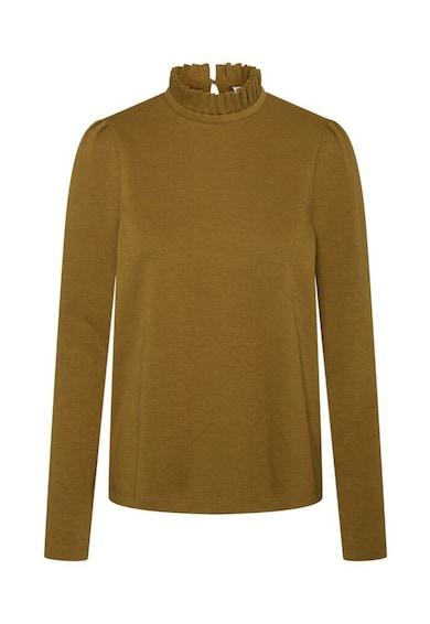 Vero Moda Bluza din bumbac organic cu guler cu pliuri Forest Femei
