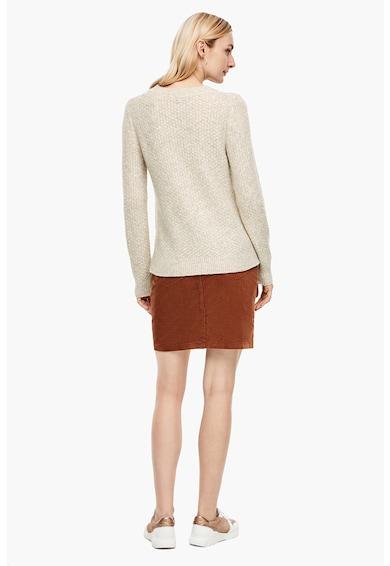 s.Oliver Texturált kerek nyakú pulóver női