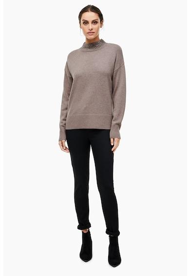 s.Oliver Pulover tricotat fin din amestec de lana si modal Femei