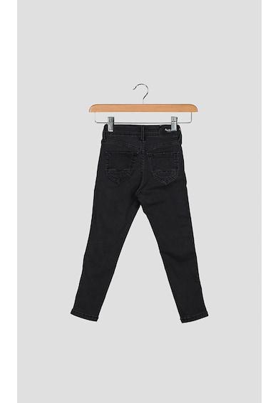Pepe Jeans London Blugi skinny cu insertii stralucitoare in partile laterale Fete