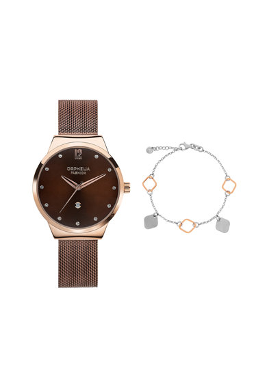 Orphelia Set de ceas si bratara de argint Femei