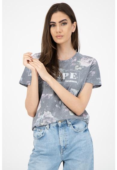 Pepe Jeans London Tricou de bumbac cu imprimeu Femei
