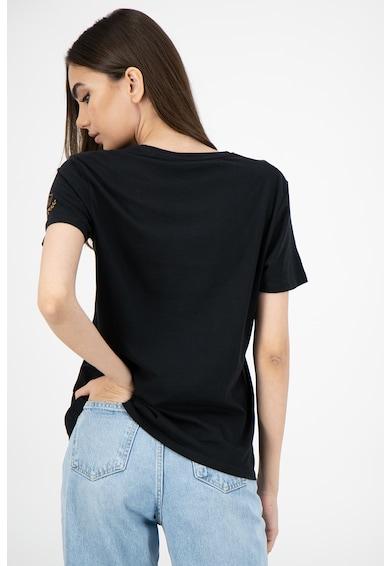 Pepe Jeans London Tricou cu decolteu rotund si logo Lara Femei