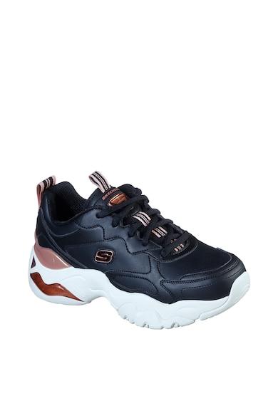 Skechers Pantofi sport cu garnituri de piele Air Golden Rules Femei