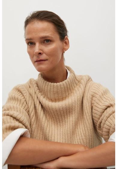 Mango Lemar aszimmetrikus pulóver hasítékkal az elején női